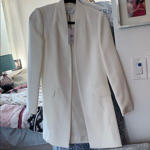 Reiss Venmo-side split jacket off white